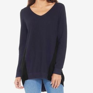 Max Studio v-neck long tunic sweater
